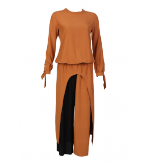 Midi Cut-out Dress (Tangerine)