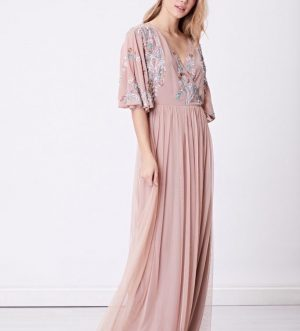 Pink Embellished Maxi Dress